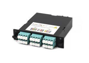 MPO-LC fiber cassette, OM3, 24 core