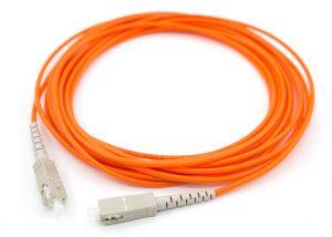 SC-SC multimode fiber optic patch cord